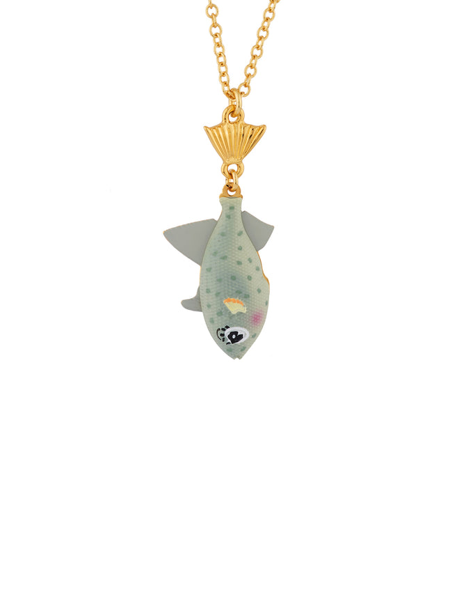 Under The Ocean Elegant Trout Long Necklace