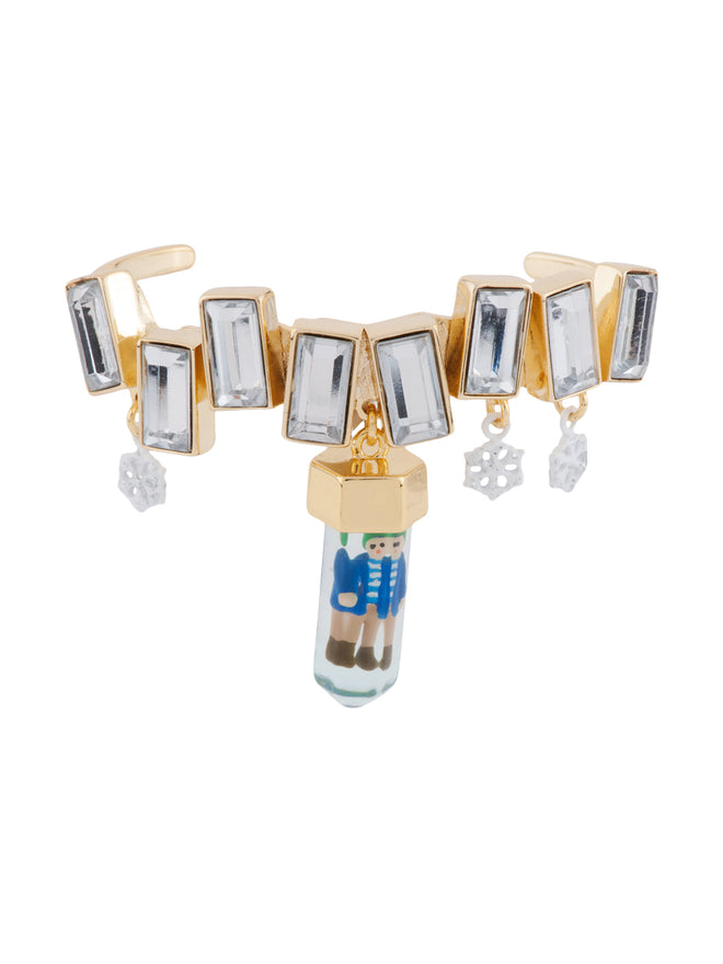 Snow Kingdom Kay Trapped In A Block of Ice Necklace and Snowflakes Semi-Rigid Bracelet