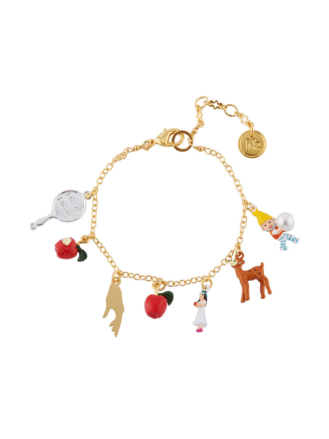 Snow White and The 7 Dwarfs Multi Charms Bracelet