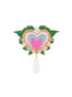 N2 x Roca Balboa Pink heart and pearl brooch