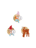 Snow White Dwarfs and Doe Set of 3 Pins