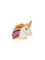 The Two Make A Pair Unicorn With A Rainbow Mane Pin's