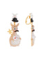 Animals Circus Magician kangaroo dangling clip-on earrings Alternate View