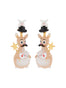 Animals Circus Magician kangaroo dangling clip-on earrings