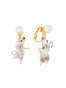 Animals Circus The dancer mouses asymmetrical dangling clip-on earrings Alternate View