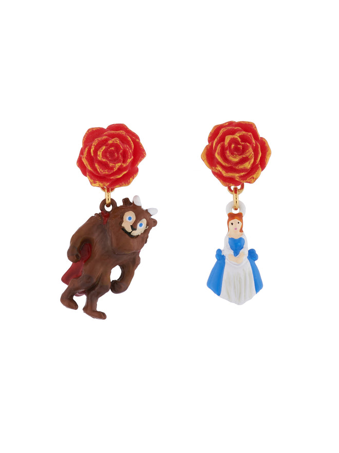 Beauty Like Beast The Beauty and The Beast Asymmetrical Clip Earrings