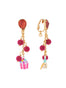 Benjamin the bunny and a candy jar hanging clip-on earrings Alternate View
