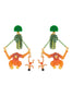 Jingle Jungle Mowgli and the King of Monkeys dangling clip-on earrings