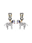 N2 x Les Néréides Loves Animals Dalmatian dog dangling clip-on earrings