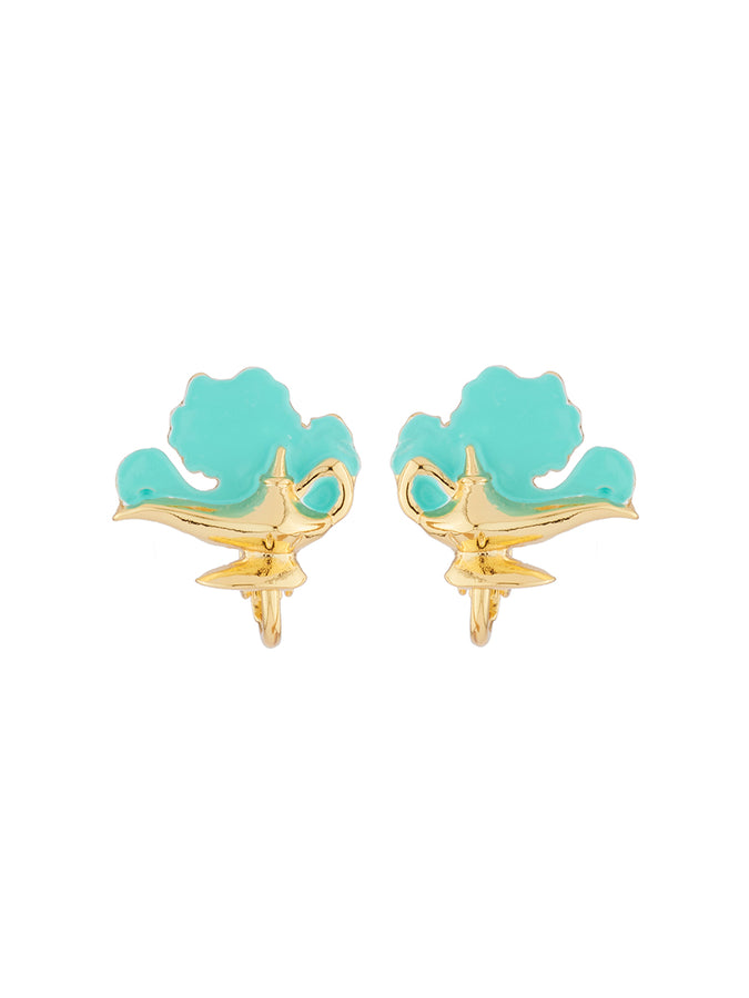 Once Upon A Time Genie's magic lamp clip-on earrings