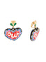 Yes Heart dangling clip-on earrings Alternate View