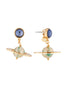 A Space Odyssey Saturn and starry sky dangling stud earrings Alternate View