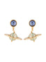 A Space Odyssey Saturn and starry sky dangling stud earrings