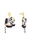 Animals Circus Acrobat panda dangling stud earrings Alternate View