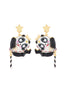 Animals Circus Acrobat panda dangling stud earrings