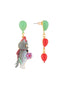 Animals Circus Cats and balloons asymmetrical dangling stud earrings Alternate View