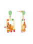 Animals Circus Clown bear dangling stud earrings Alternate View