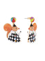 Animals Circus Juggler squirrel dangling stud earrings Alternate View
