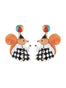 Animals Circus Juggler squirrel dangling stud earrings