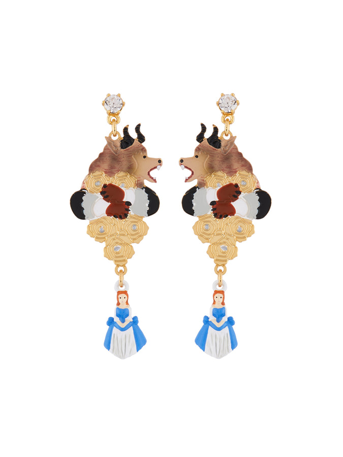 Beauty Like Beast The Beast On His Sunday Best, Golden Roses and The Beauty Charm Earrings