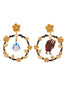 Beauty Like Beast The Beauty and The Beast Asymmetrical Large Hook Earrings