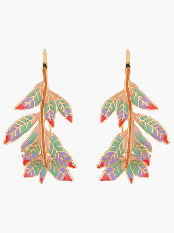 Euphoric Botanica Indian Leaves Hook Earrings