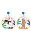 Jingle Jungle Stroll in the jungle asymetrical stud earrings