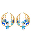 N2 X Coucou Suzette First Kiss Under The Rain Large Hoop Earrings