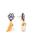 N2 x Les Néréides Loves Animals Cat dangling stud earrings Alternate View