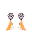 N2 x Les Néréides Loves Animals Cat dangling stud earrings
