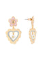 N2 x Roca Balboa Little pink daisy and heart stud earrings Alternate View