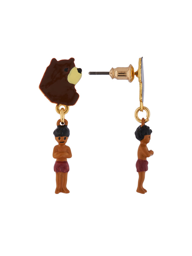 Once Upon A Time Baloo, Bagheera and Mowgli Asymmetrical Earrings Alternate View