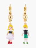 Scrumptious Epic Hansel and Gretel Asymmetrical Dormeuses Earrings