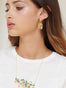 Scrumptious Epic Hansel in a Golden Cage Stud Earrings Alternate View