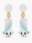 Scrumptious Epic Merry Marshmallow Clip-on Earrings