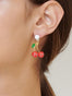 Scrumptious Epic Smiling Cherries Stud Earrings Alternate View