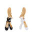 White Ball Black and White Ballet Shoes Earrings