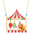 Animals Circus Clown bear and balloons long necklace