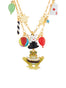 Animals Circus Rabbit and frog two rows necklace