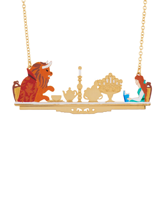 Beauty Like Beast Candlelight Dinner Between The Beauty and The Beast Necklace