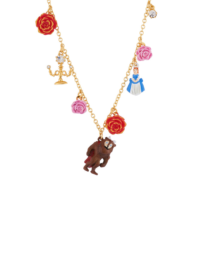Beauty Like Beast Multi Elements of The Beauty and The Beast Necklace