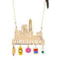 Hello New York and Emblematic Charms Necklace