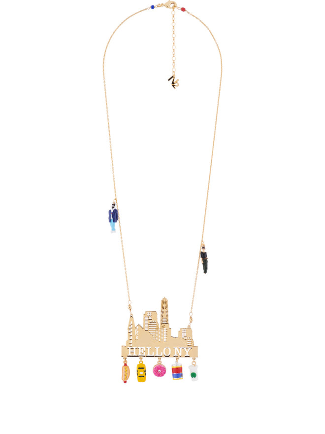 Hello New York and Emblematic Charms Necklace Alternate View