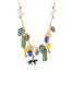 Jingle Jungle Mowgli, Bagheera with monkeys in the jungle two row necklace