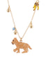 Les Nereides Loves Animals Little Lion Cub and Charms Necklace