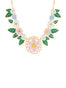 N2 x Roca Balboa Pink flower and small flowers collar necklace