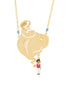 Once Upon A Time Aladin and golden genie long necklace