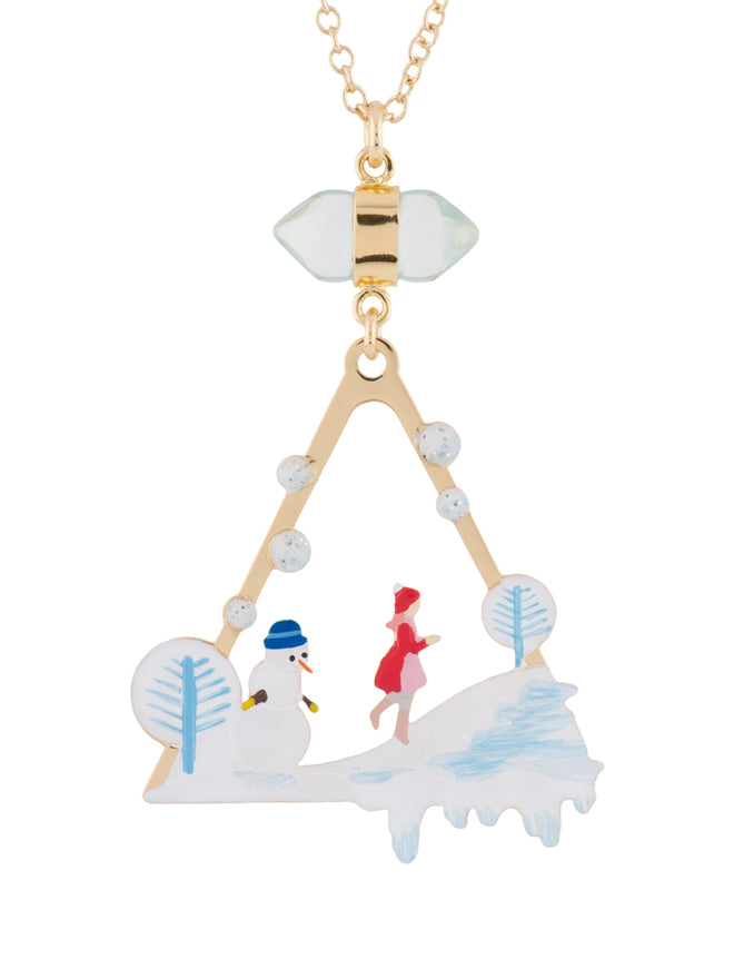 Snow Kingdom Greda Playing on Ice Necklace