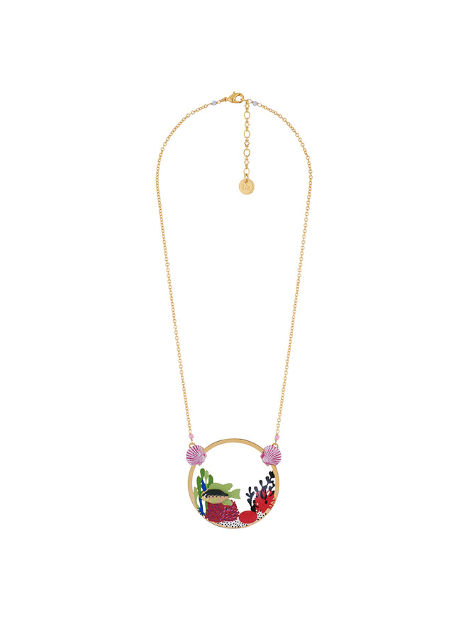 Under The Ocean Fish Swimming Among Colourful Corals Necklace Alternate View