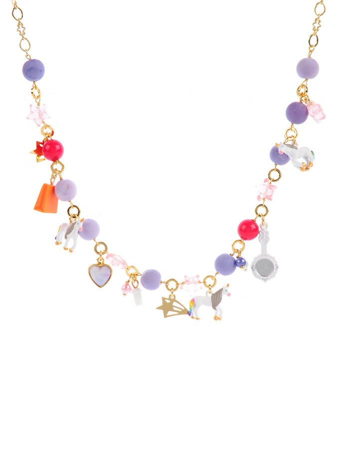 Unique Unicorn Convertible Multi Unicorns and Charms Necklace